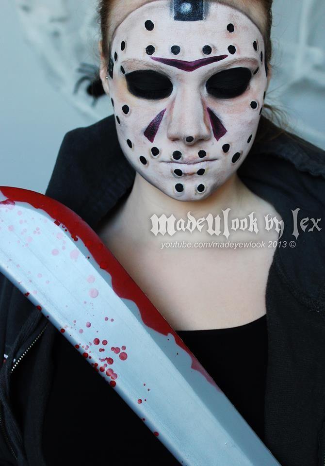 Jason Halloween makeup party makeup scary halloween costumes adult - scary halloween ideas