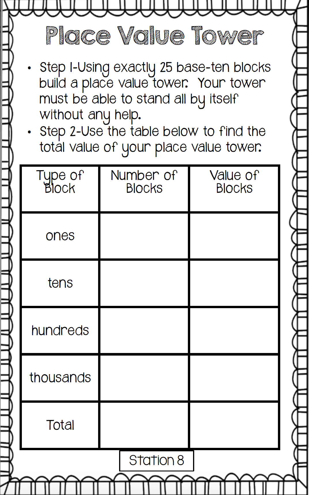 Hands On Place Value