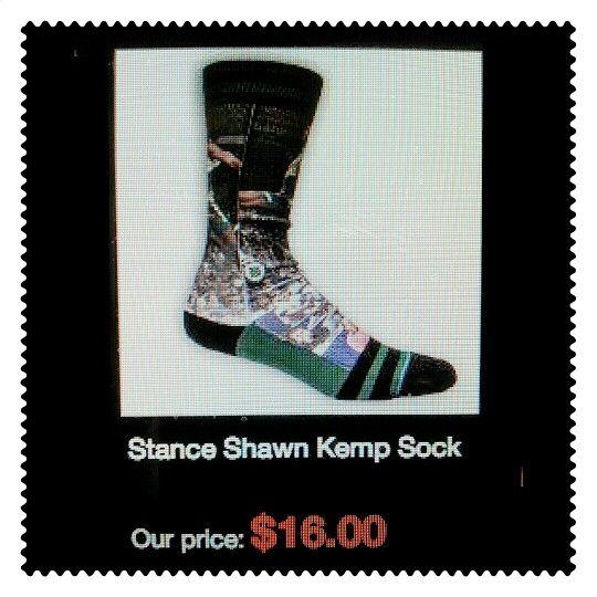 Shawn Kemp Socks! #ThrowbackSonicsGear