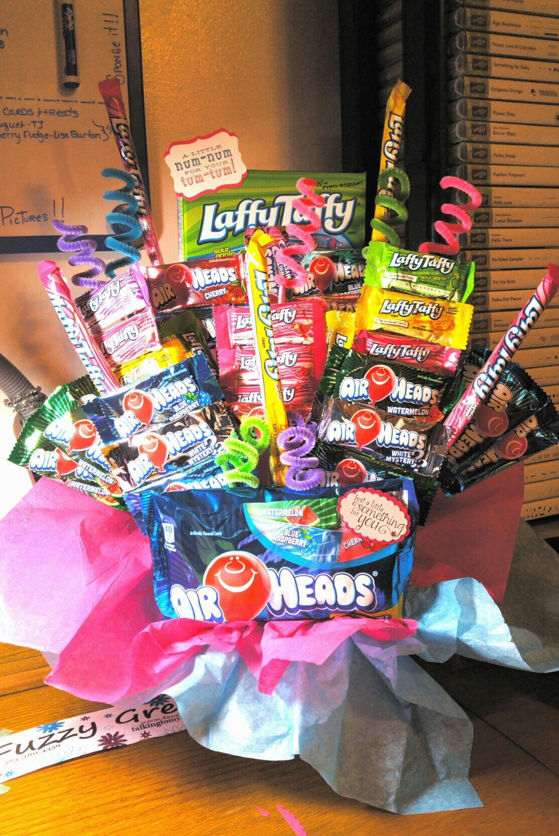 Air Heads And Laffy Taffy Candy Bouquet Candy Candy Airheads