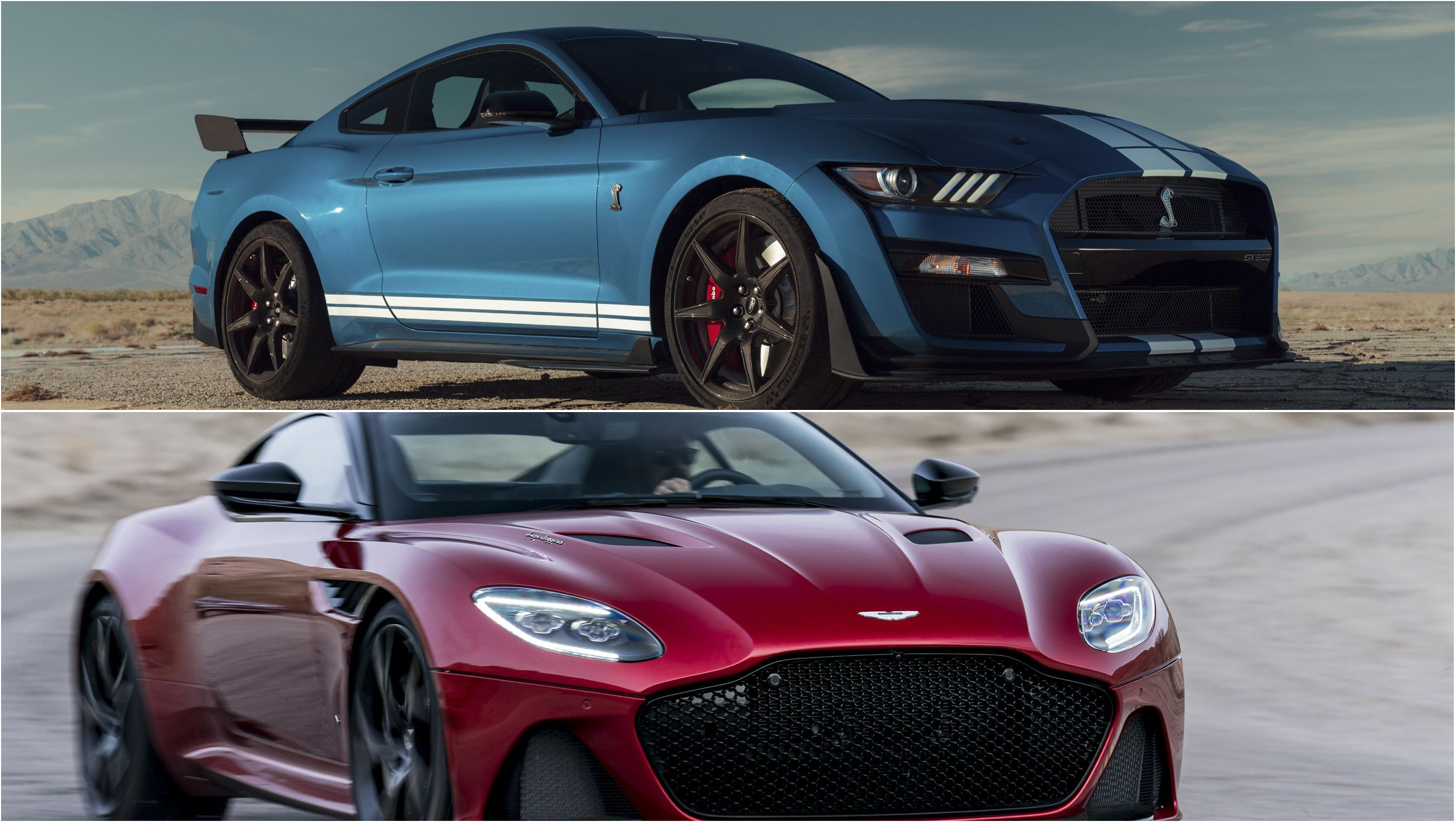 2020 Ford Mustang Shleby Gt500 Vs 2019 Aston Martin Dbs