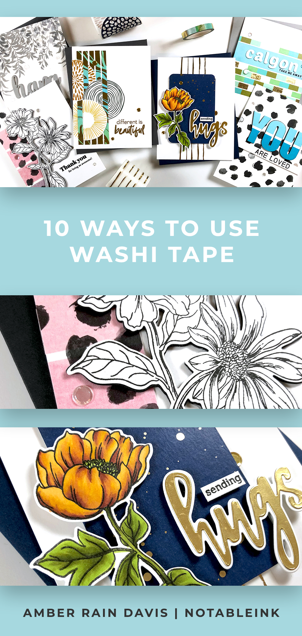 10 Ways To Use Washi Tape In Cardmaking Simple Cards Handmade Cards Handmade Card Design Handmade