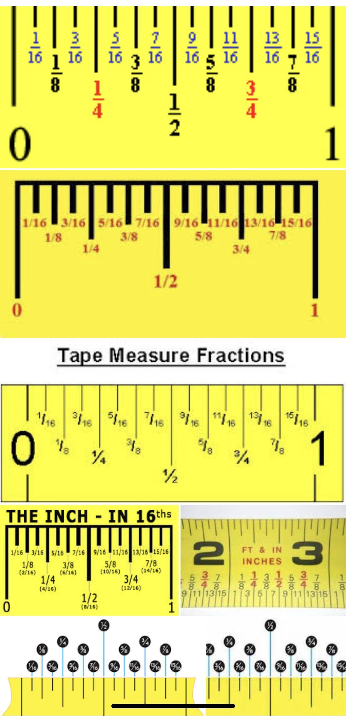 Measuring Tape Increments E Weird Ones Too Lifehack