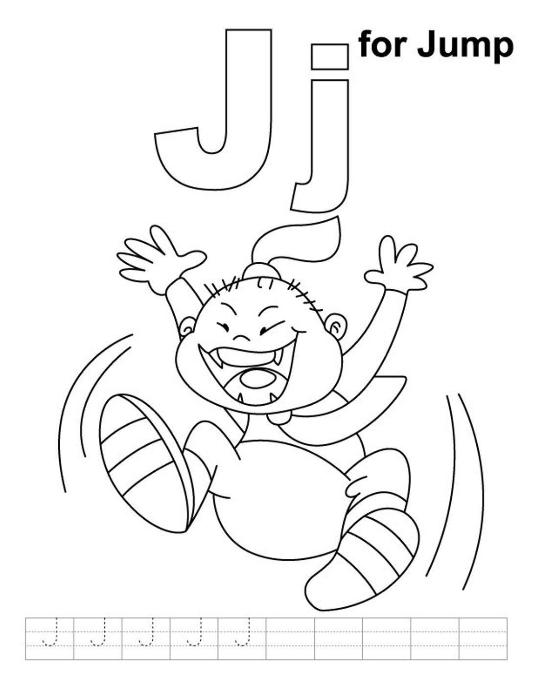 J Is For Jump Alphabet Coloring