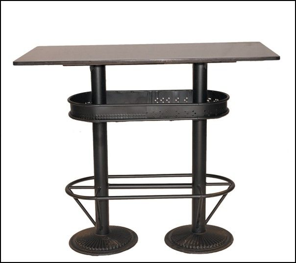 Table haute industrielle mange debout loft pas chere et for Table mange debout