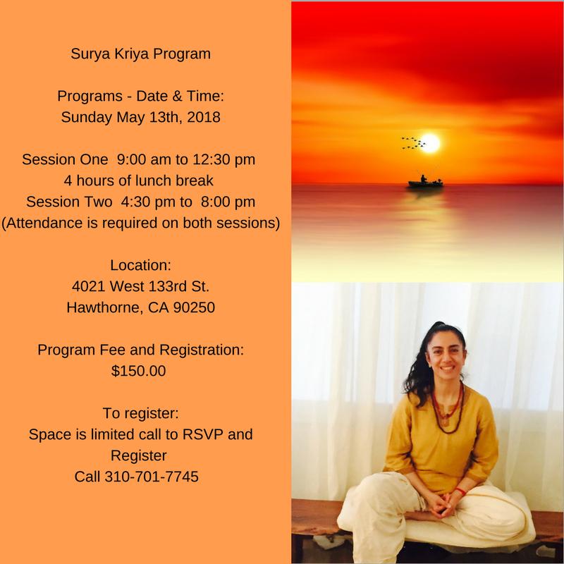 Surya Kriya Isha Hata Yoga La Kriya Yoga Program Integrative Medicine