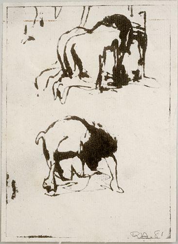 Robert D'Arista, 1929-1987, aquatint. Robert D'Arista Prints 1960-79