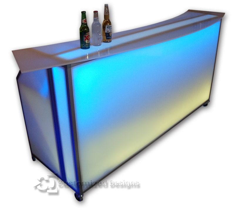 77 Folding Portable Bar On Wheels For Bars Restaurants Free Graphics Portable Bar Event Bar Portable Led Lights