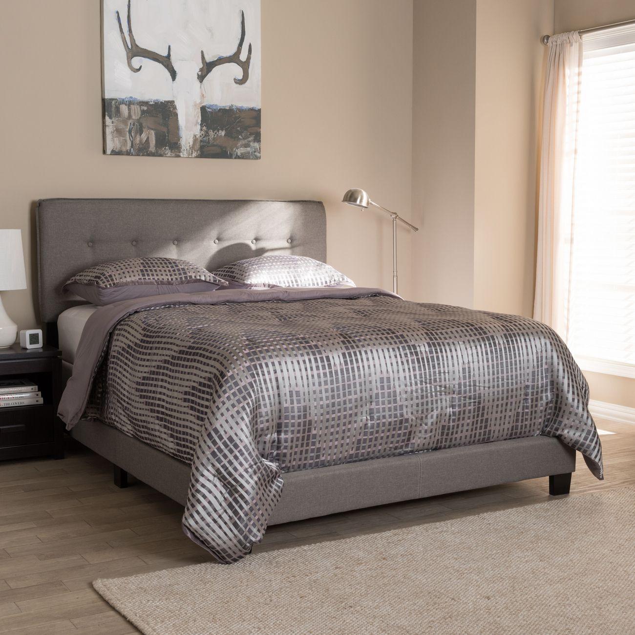 Best Baxton Studio Audrey Modern Contemporary Light Grey 400 x 300