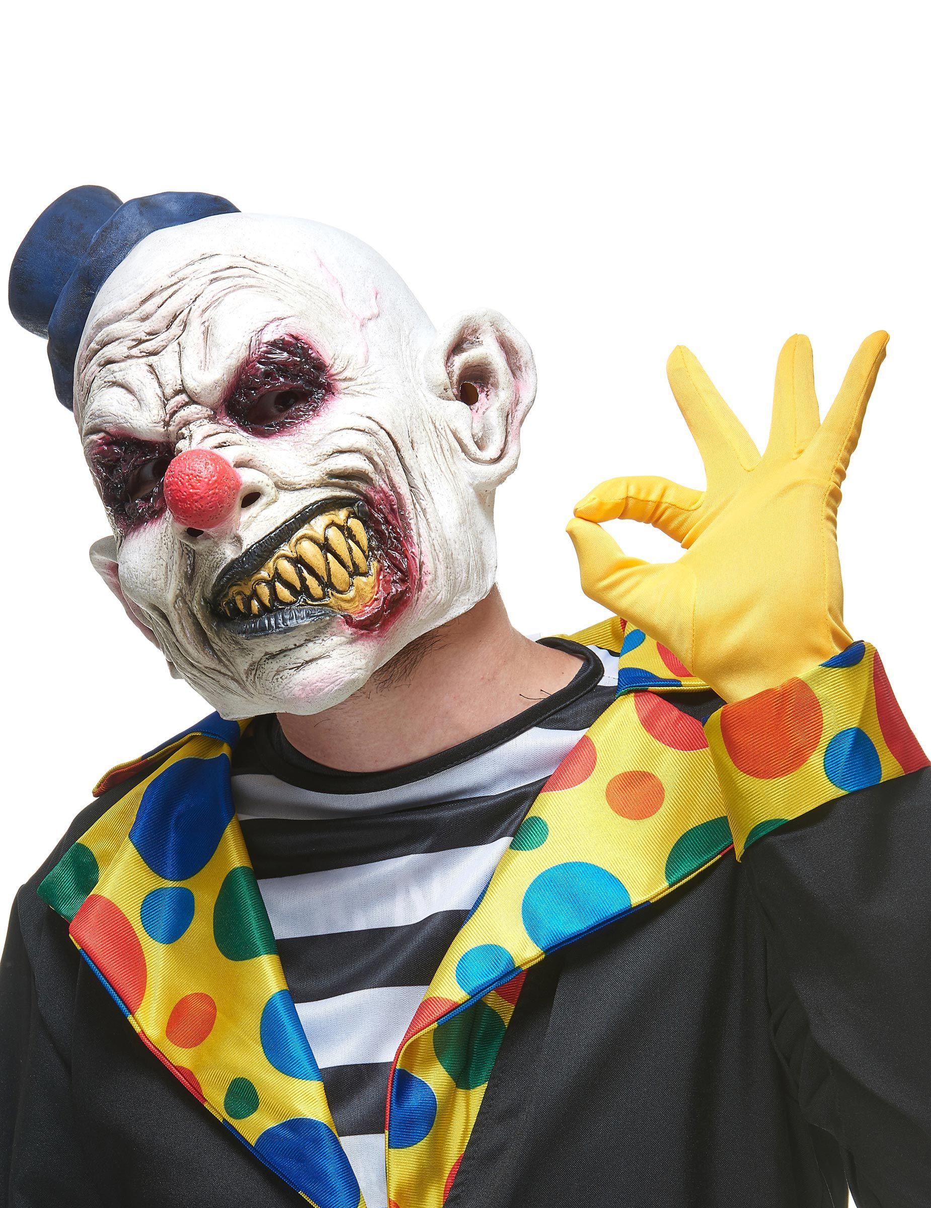 Masque clown terrifiant adulte Halloween