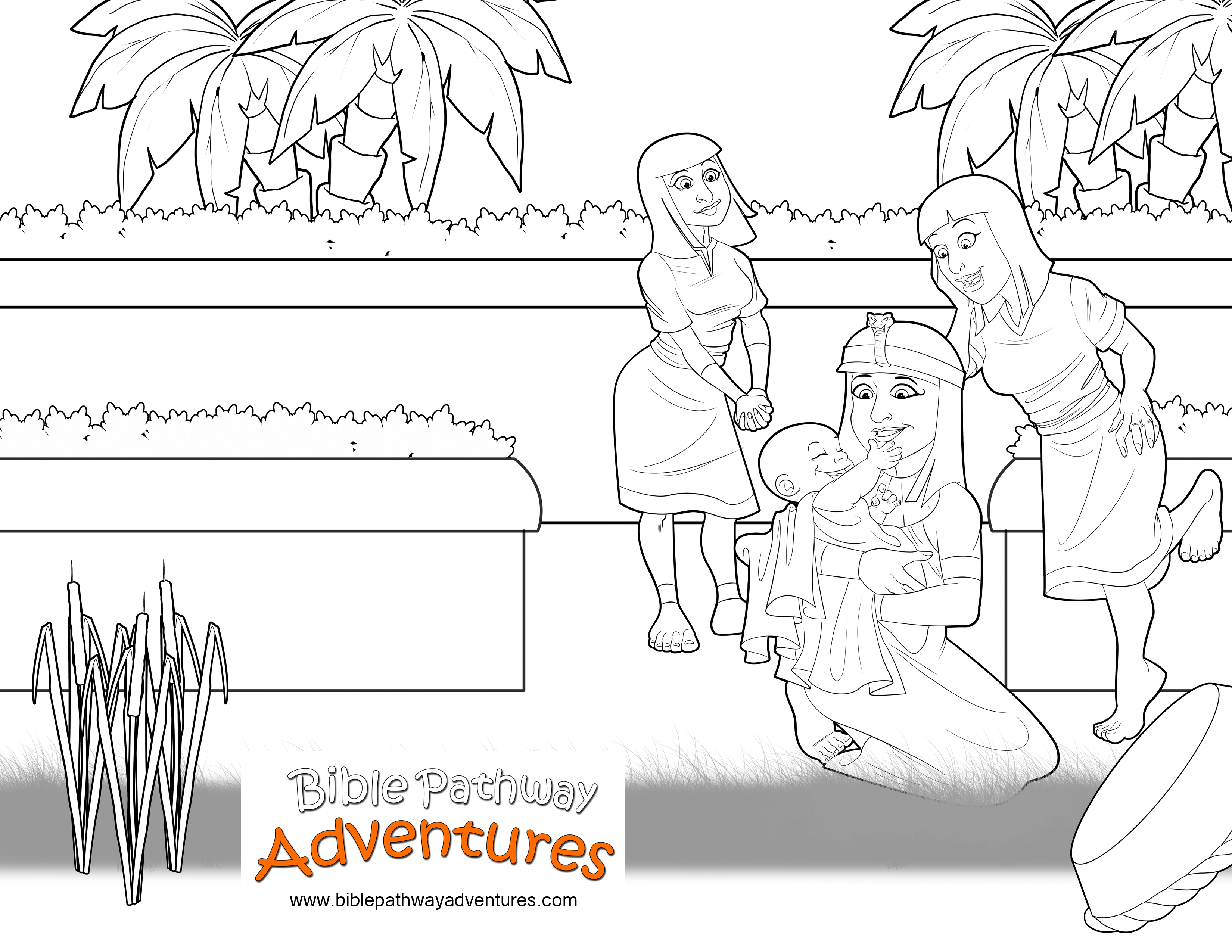 Bible Coloring page: Baby Moses