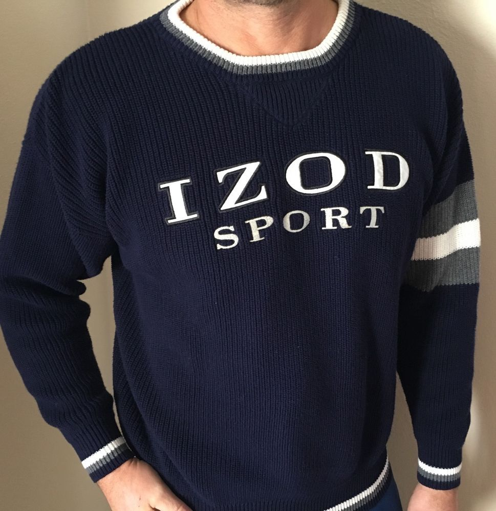 948c9cedd RARE Vintage IZOD Sport Lacoste Men s size L fits Medium Knit Sweater  Pullover