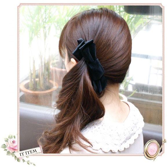髪留めバンスクリップで 低めサイド 簡単ヘア ヘアアレンジ 簡単