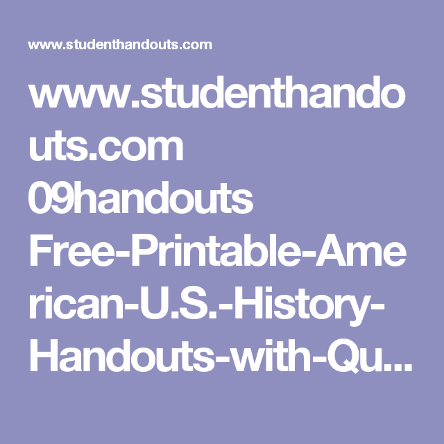 www studenthandouts com 09handouts free printable american u s rh in pinterest com 26.1 guided reading origins of the cold war guided reading origins of the cold