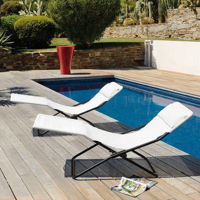 Lafuma Transabed Lounge Chair Fabric Products Pinterest - liegestuhl im garten 55 ideen fur gestaltung vom lounge bereich