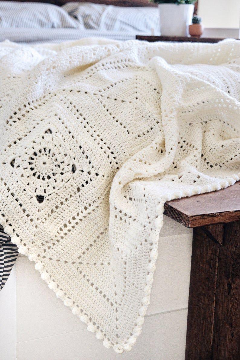 CROCHET PATTERN ⨯ Granny Square Blanket Crochet Pa
