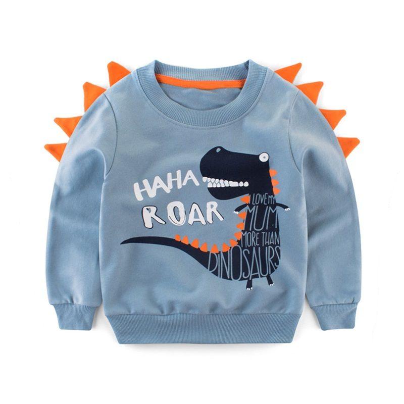 bd7b016c47e1 2-8Y Children Baby Boys Girls Long Sleeve T-Shirt Autumn Pullover ...