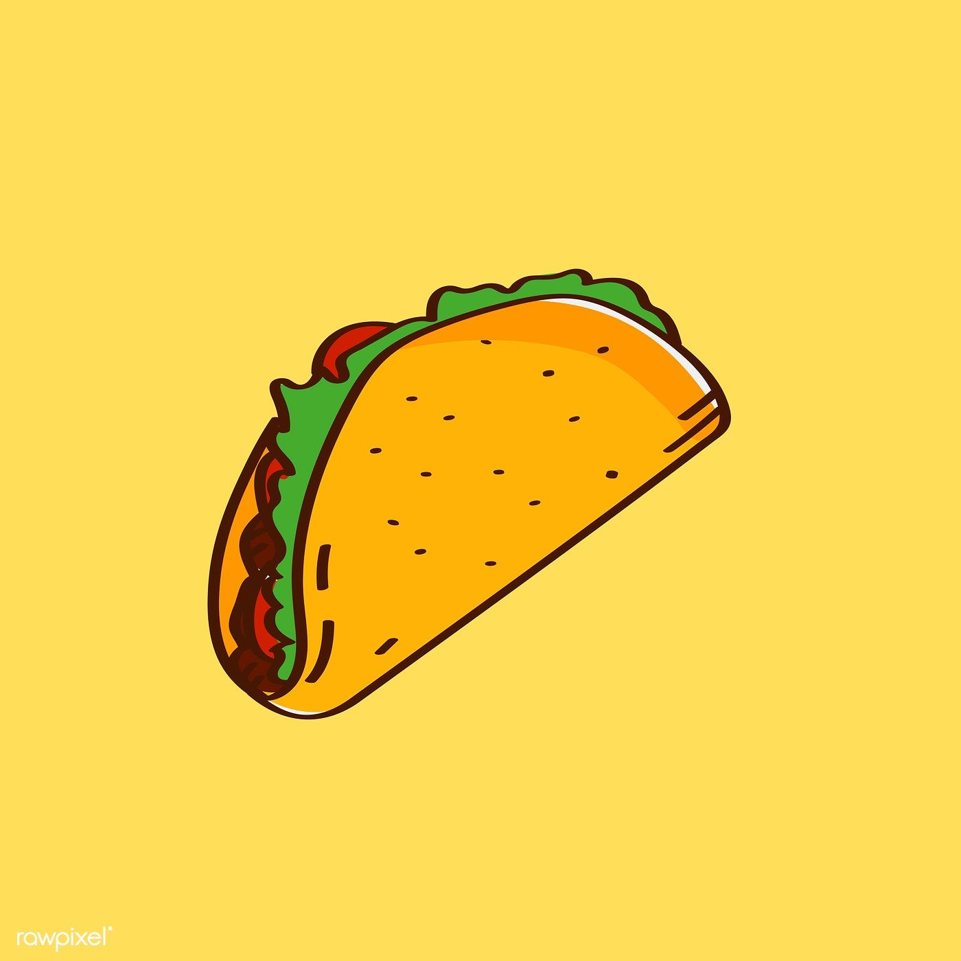 Hand Drawn Traditional Taco Mexican Food Vector Free Image By Rawpixel Com Nap How To Draw Hands Taco Drawing Mexican Food Recipes