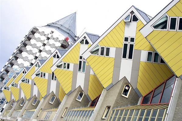 Cubic houses in Rotterdam, Holland