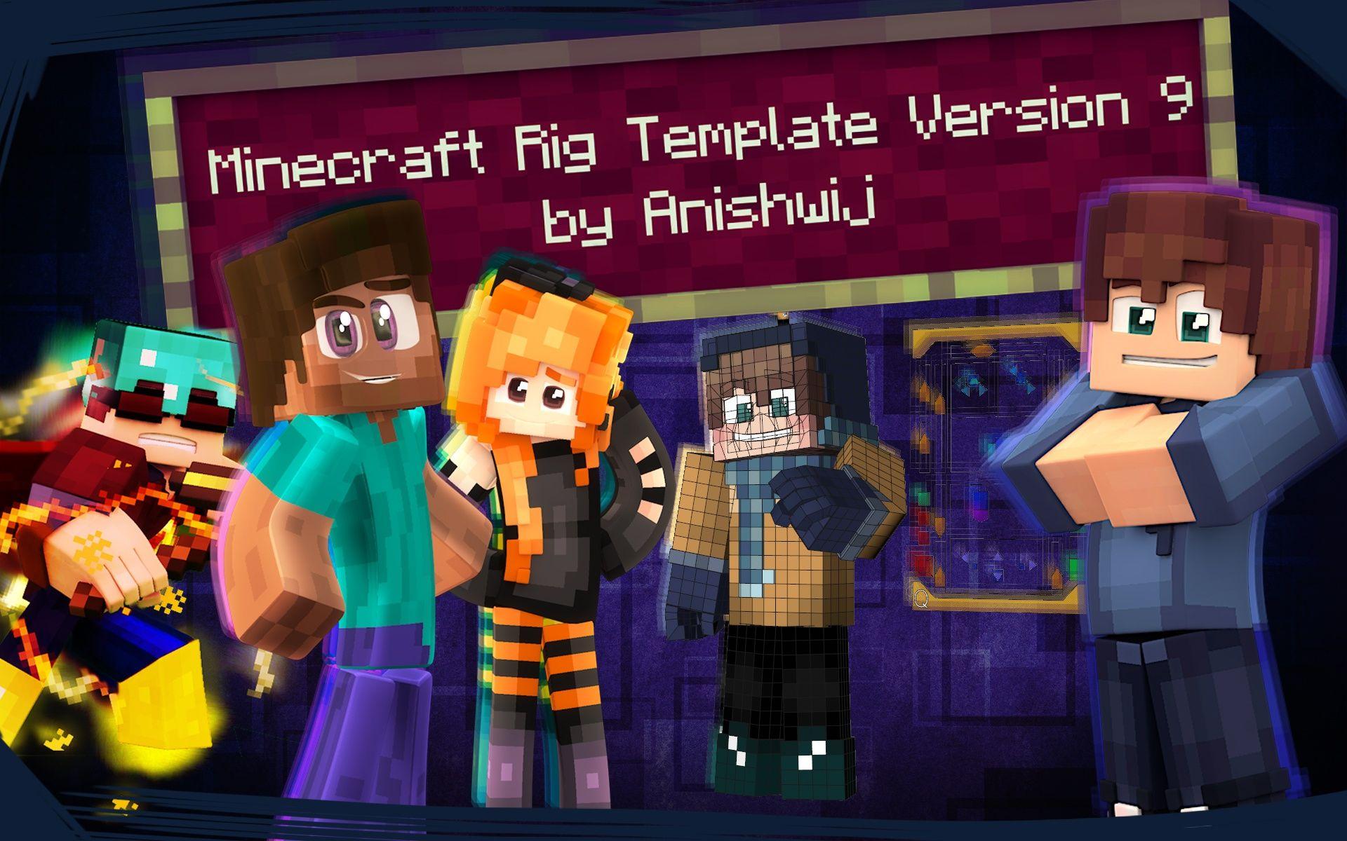 Cinema 4d Minecraft Rig Template Version 911 By Anishwij