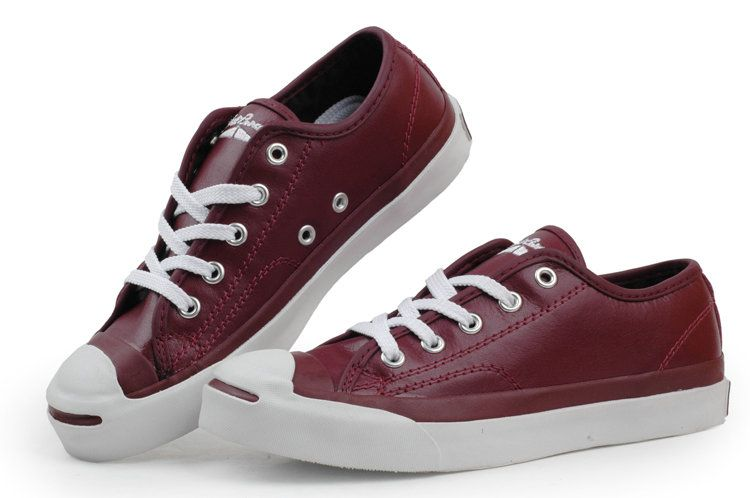 0dd75afd0848 Converse Jack Purcell Leather Wine-Red