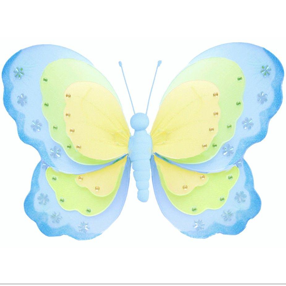 Nylon Butterflies Triple Layered | Butterfly Decorations | Pinterest ...