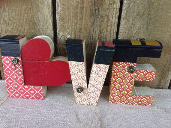Cut book letters mini love cut from readers digestvalentine cut book letters mini love cut from readers digestvalentine spiritdancerdesigns Images