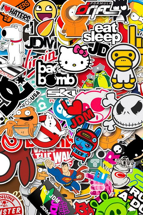 A Collection Of Iphone 4s Wallpapers Sticker Bomb Wallpaper