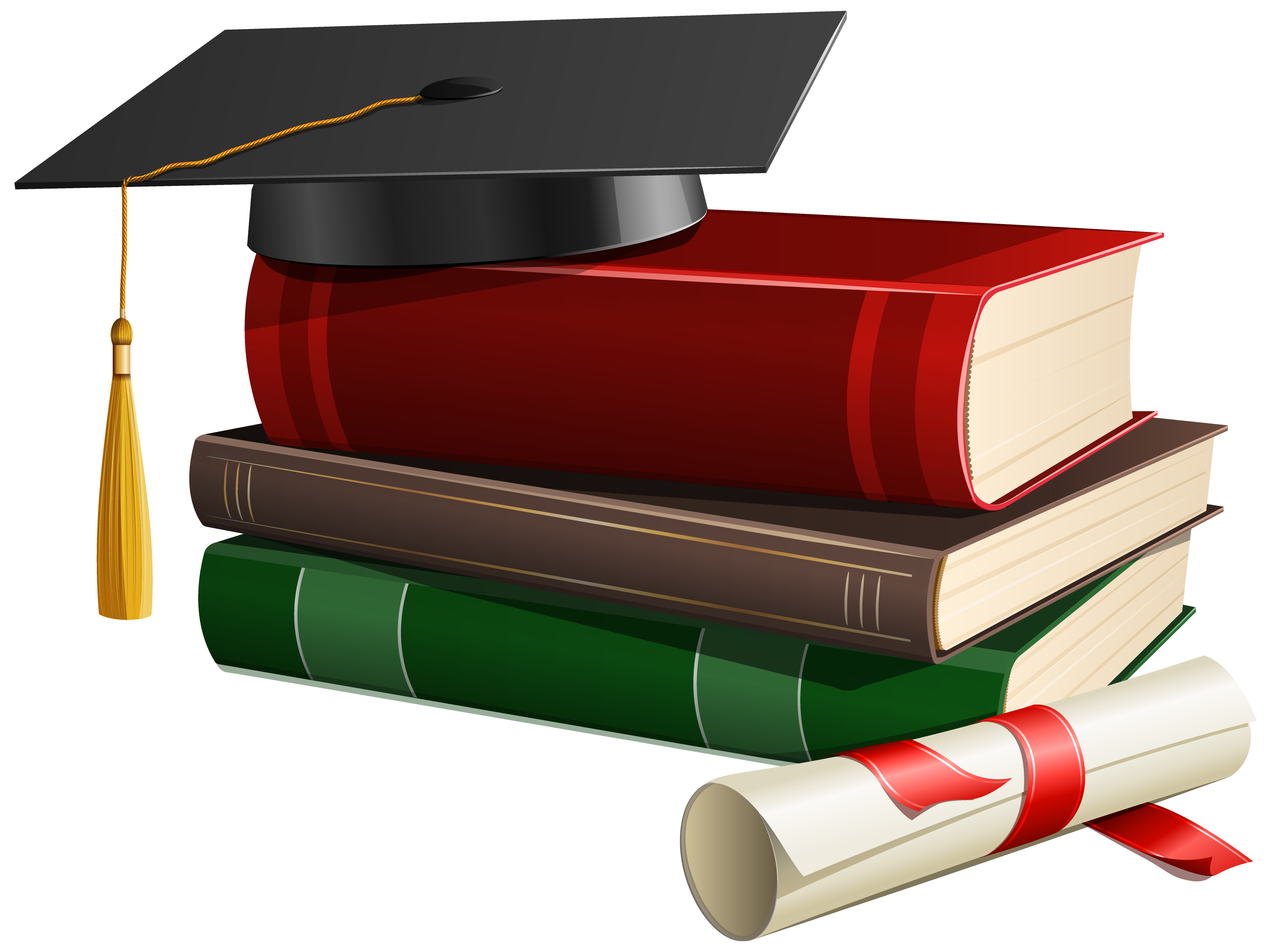 Graduation Cap Books and Diploma PNG Clipart | Online science ...