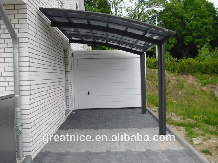 Attached Wall Aluminum Carport Garage With Polycarbonate Aluminum Carport Aluminum Handrail Carport