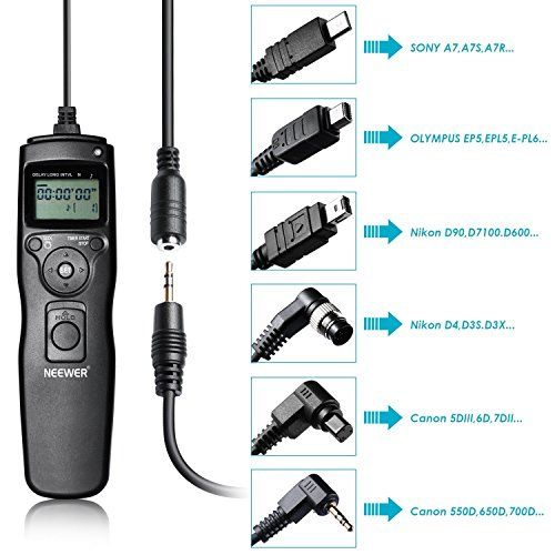 Neewer 6 In 1 Timer Shutter Release For Canon 700d 650d 550d 60d 5d Markiii 6d 70d 7d Markii Nikon D4 D300s Nikon D4 Camera Remote Controls Camera Photography