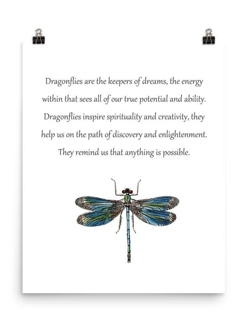 Dragonfly Dream Keepers Dragonfly Art Dragonfly Poster | Etsy