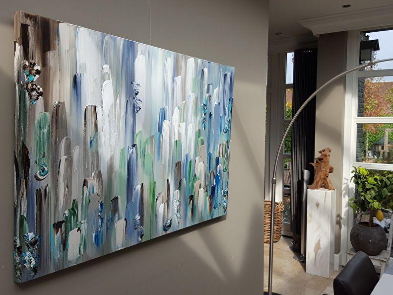 Minimalistisch scandinavisch abstract doeku grote