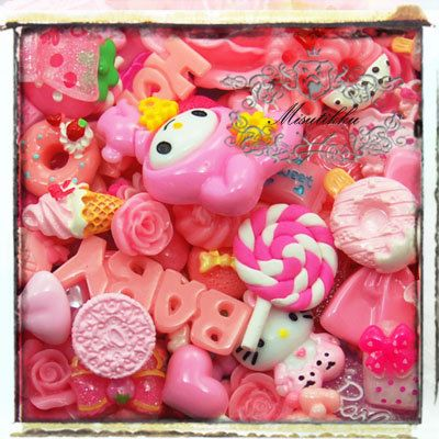 50 PCS Mix Assorted Cabochon Decoden Mix Bow Flat by Misutikku, $14.99