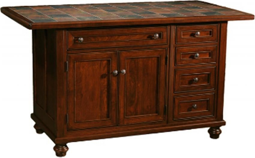 Amish Oceanside Kitchen Island With Five Drawers And Two Doors Amish Furniture Furniture