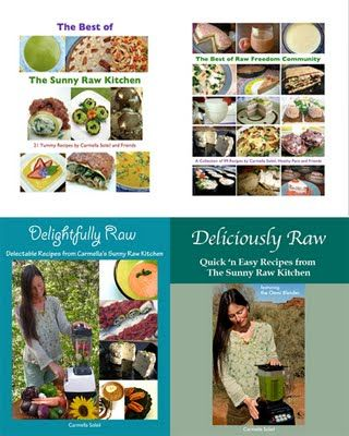 The sunny raw kitchen.  Raw foods.