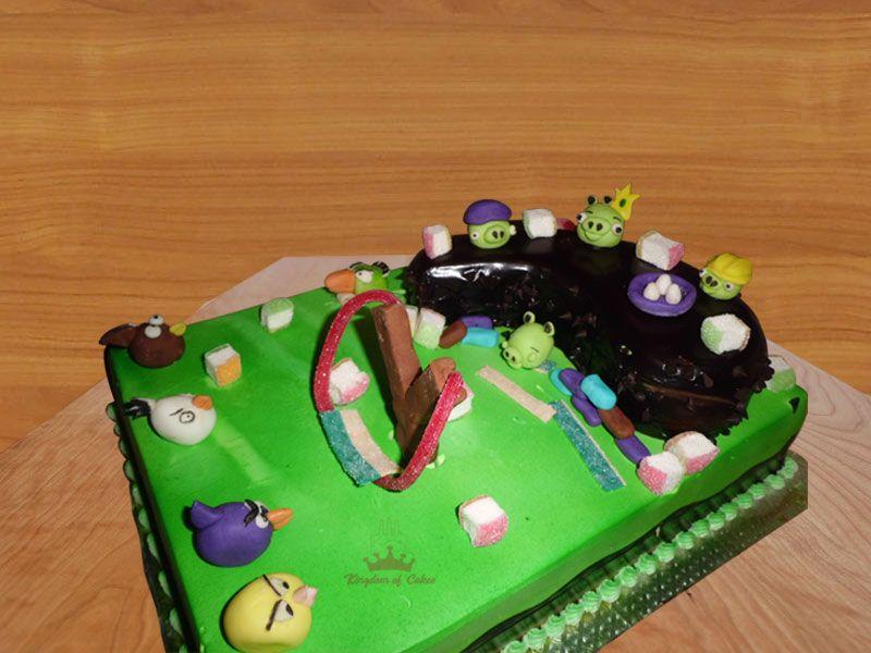 Fine Order Online Angry Bird Cake For Kids Special Designer Birthday Personalised Birthday Cards Sponlily Jamesorg