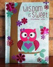 New Lady Jayne/Kate Windgate Cute Flowers & Owl Lined Journal - Inspirational