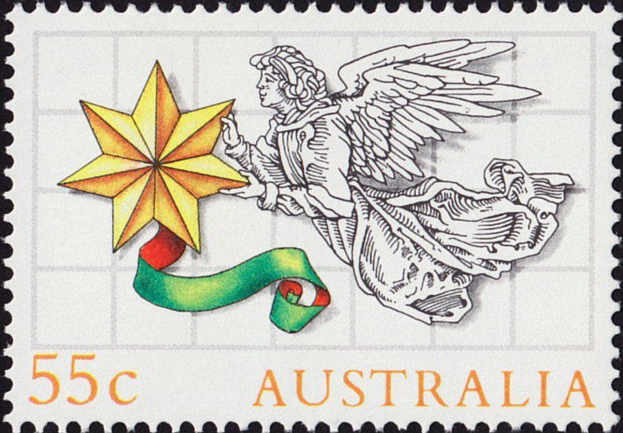 Stamp Angel With Star (Australia) (Christmas 1985) MiAU