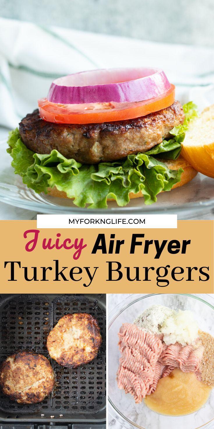 Juicy Air Fryer Turkey Burgers Recipe in 2020 Turkey