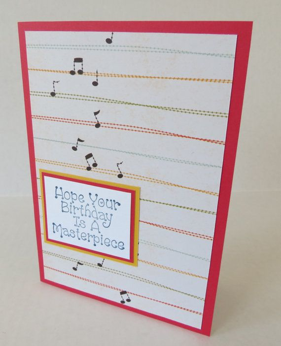 Birthday Masterpiece Music Themed Handmade Christian Card With Scripture By Stufffromtrees On Etsy