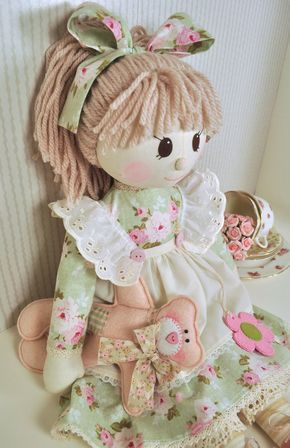 Holly Rag Doll Pattern by RaggyDollsSupplies on Etsy More