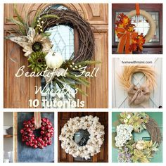 Beautiful Fall Wreaths: 10 Tutorials