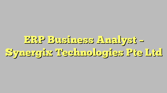 Erp business analyst synergix technologies pte ltd business business analyst reheart Choice Image