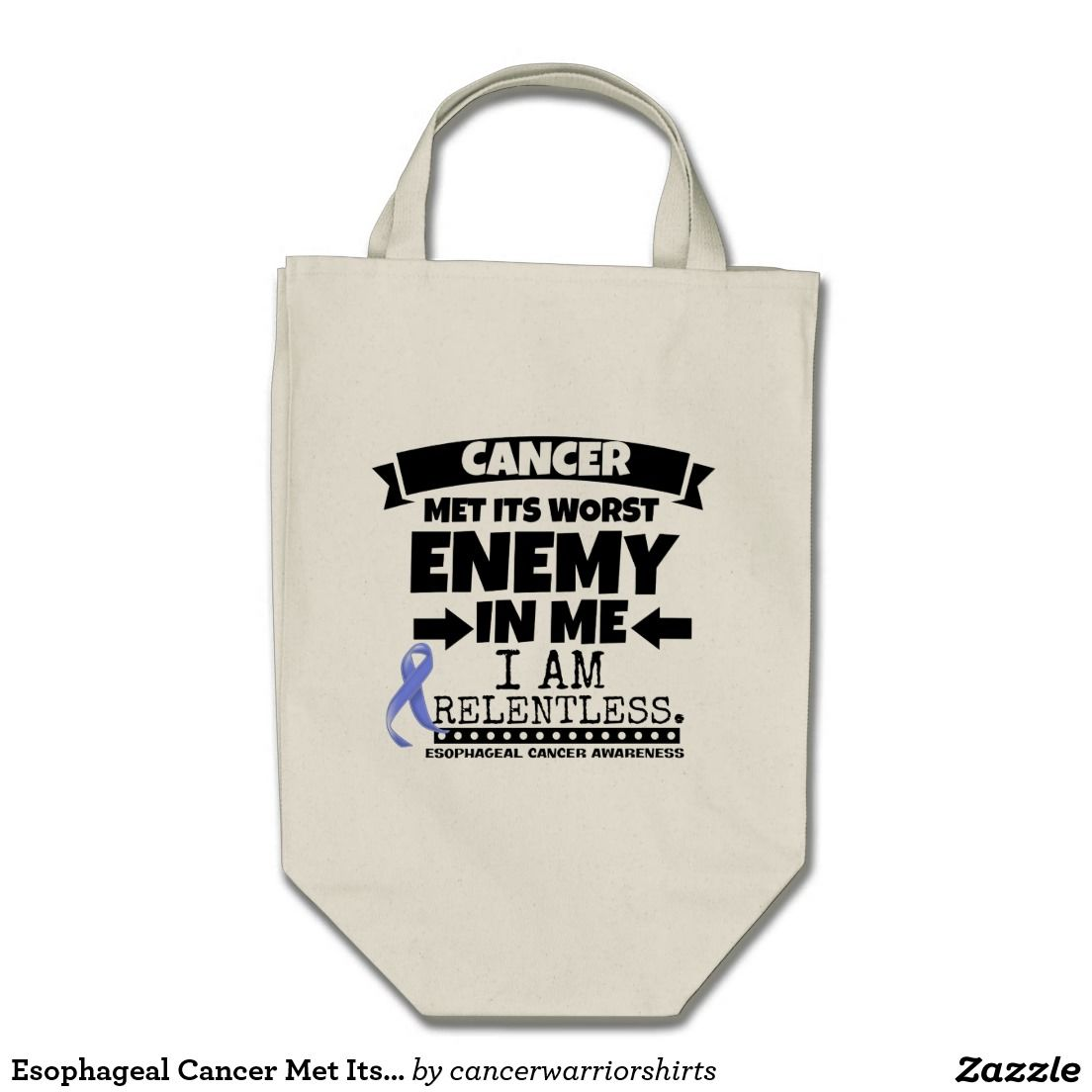Esophageal Cancer Met Its Worst Enemy in Me Grocery Tote Bag