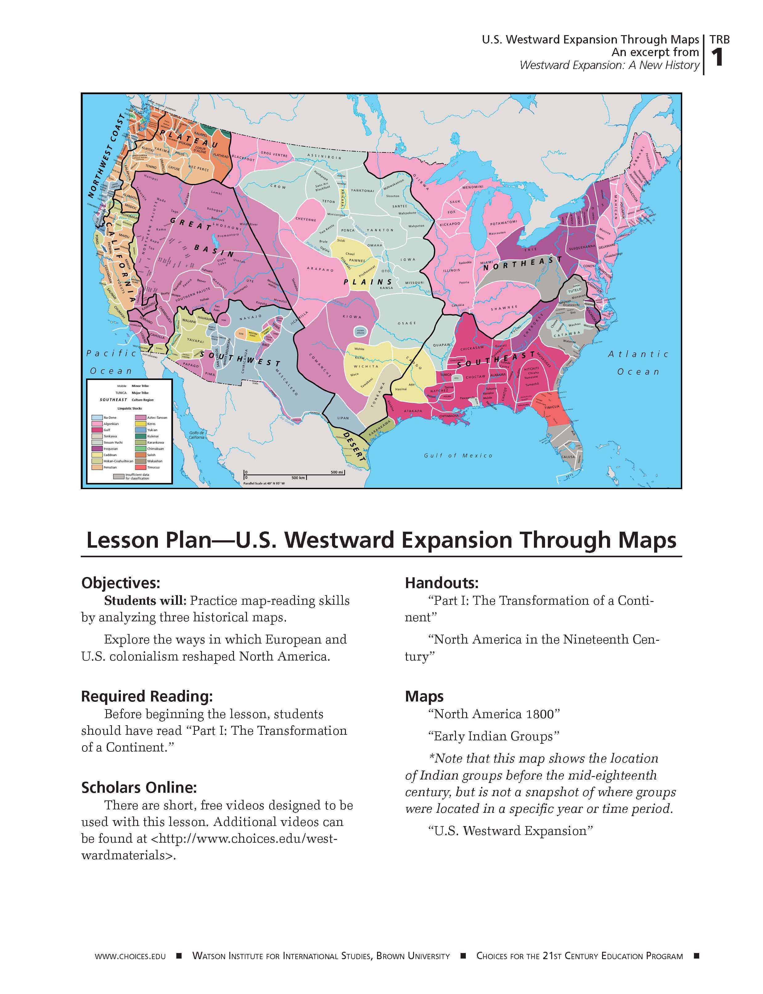 Students Use Maps To Understand Westward Expansion Its