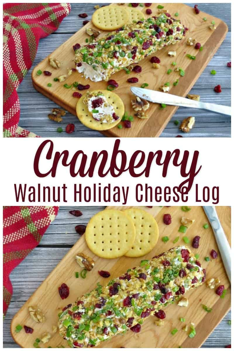 Cranberry Walnut Holiday Cheese Log Recipe  Holiday Appetizer