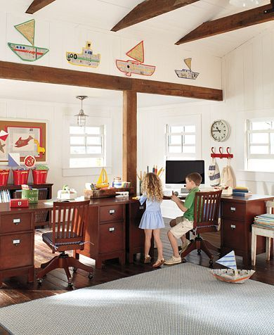 Pottery Barn Kids Desks Homeschool Room Idea Home Kiddos