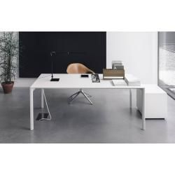 Photo of Kristalia Maki Fenix-ntm® table 100 x 189cm table top white Kos 0032, legs white lacquered aluminum
