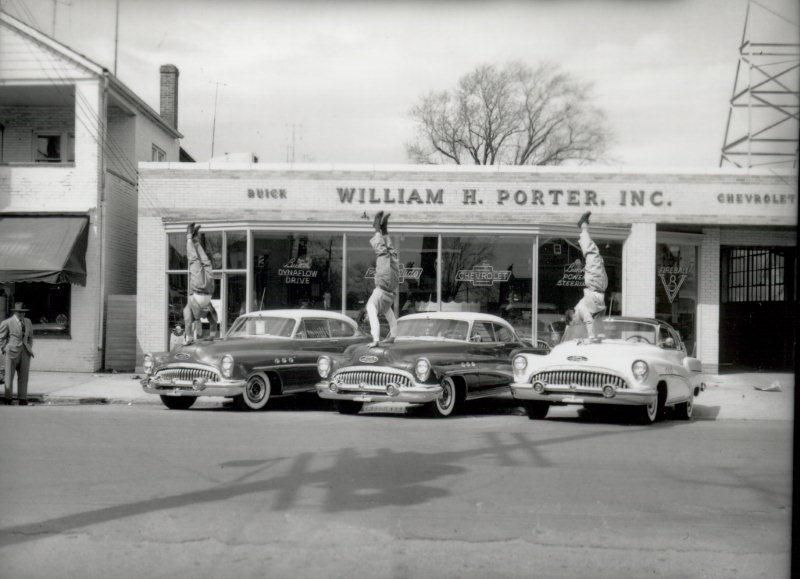 porter auto group circa 1952 newark delaware the three little bakers were also gymnasts and help with one of our promotions
